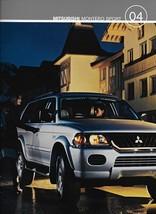 2004 Mitsubishi MONTERO SPORT sales brochure catalog US 04 LS XLS - $8.00
