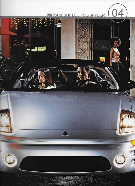 Primary image for 2004 Mitsubishi ECLIPSE sales brochure catalog US 04 GS GT GTS Spyder