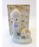 Precious Moments Figurine E-1374/B Praise the Lord Anyhow Boy with Dog Hourglass - $44.05