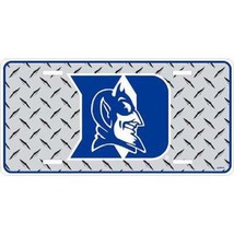 Duke Blue Devils Diamond Plate License Plate - $10.70