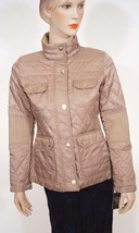 Vince Camuto G8341X Womens Mocha Beige Quilted Jacket Coat Small S - $119.99