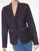 Michael Kors Derby Womens Grey Wool Lined 1 Button Suit Jacket Blazer 10 - $79.99