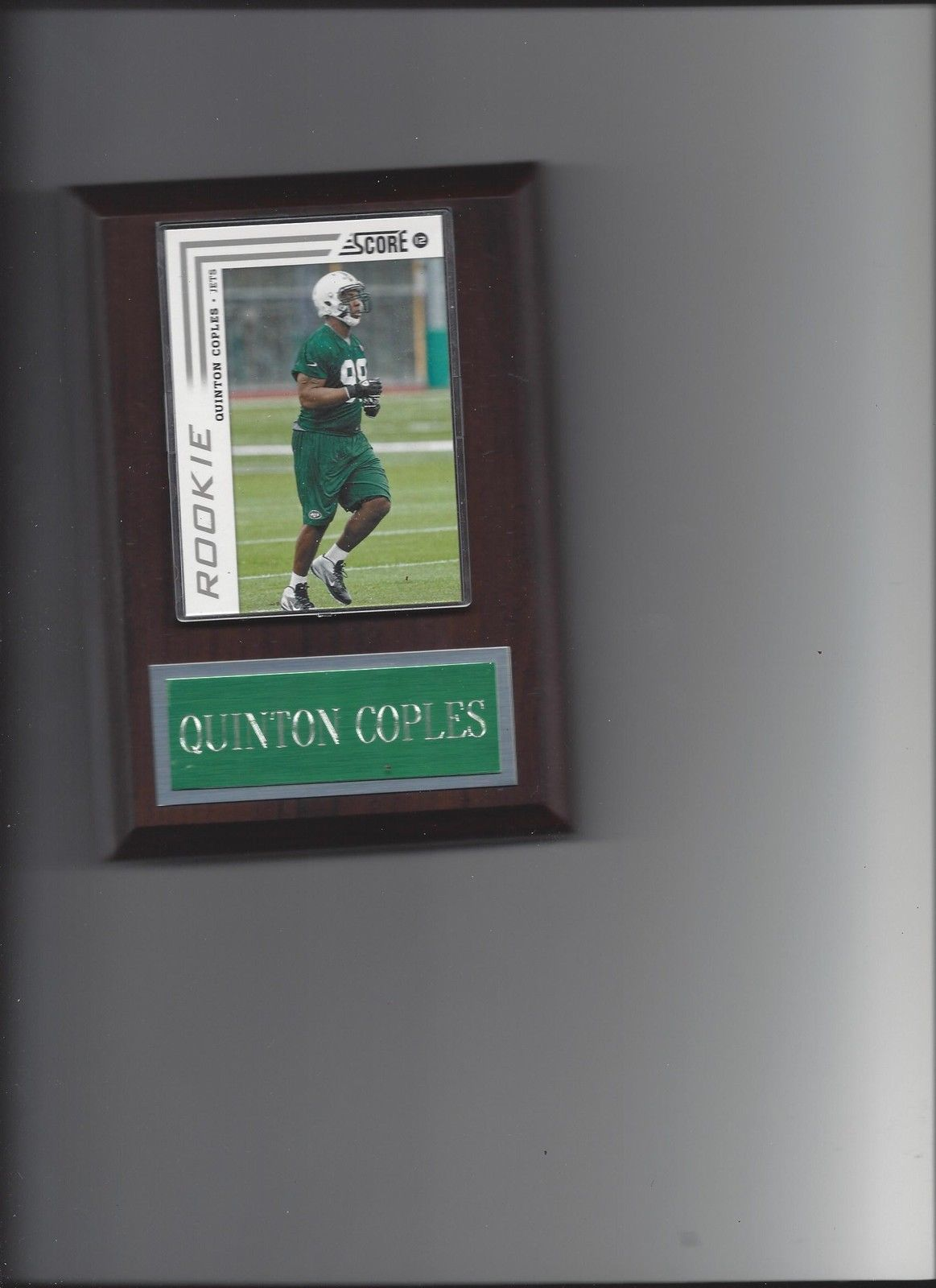 Primary image for QUINTON COLES PLAQUE NEW YORK JETS NY FOOTBALL NFL