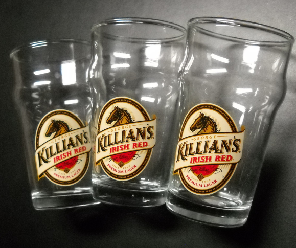 Primary image for Killian's Irish Red Miniature Pint Glasses Lot of Three Made in Germany Lager