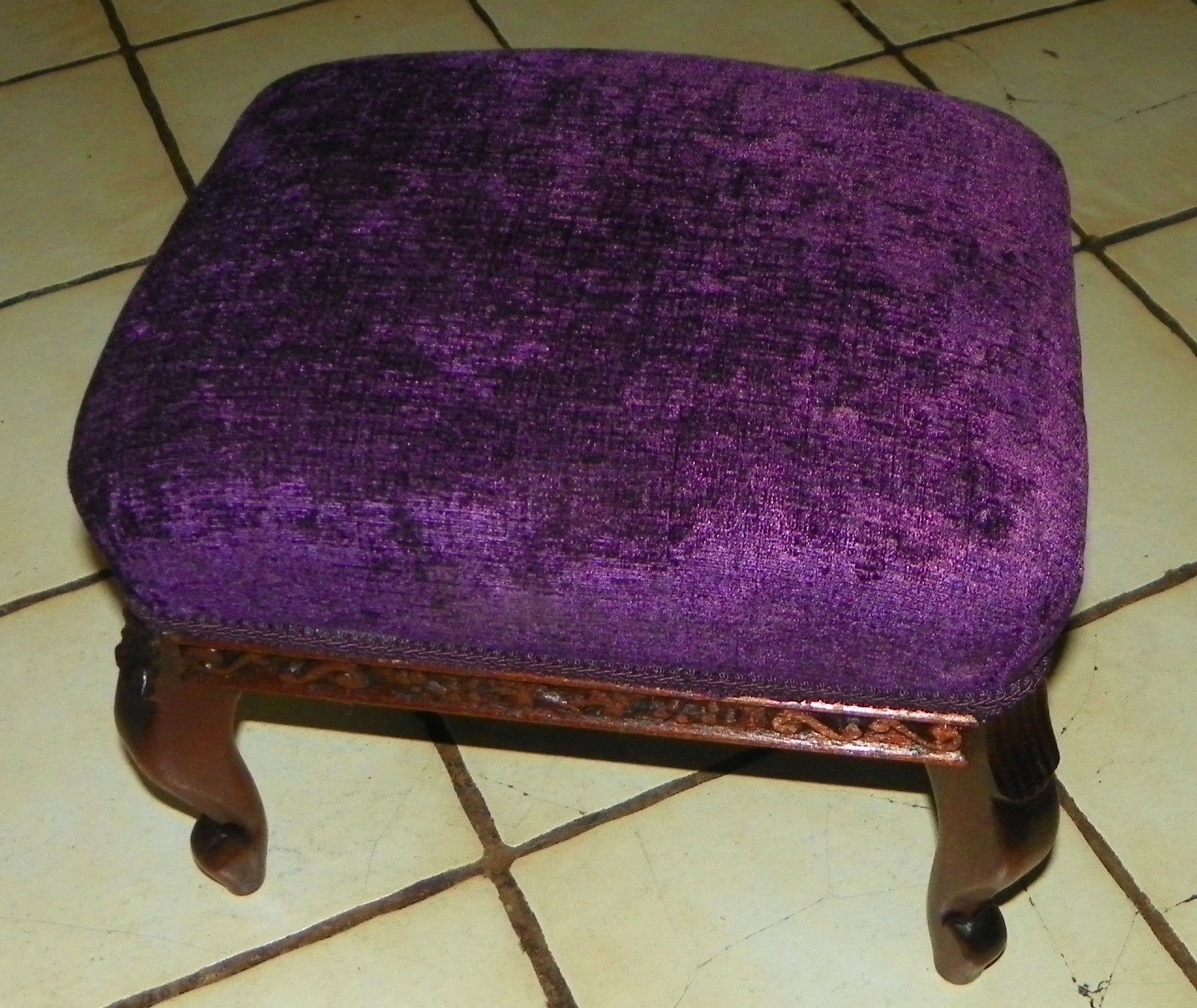 Primary image for Mahogany Carved Salesman Sample Footstool / Stool
