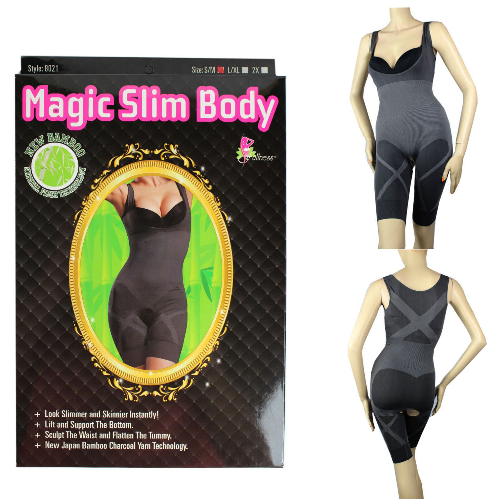 1cc7b37e2f16b Sexy MAGIC SLIM BODY Natural Bamboo Butt Lift Scult Waist Invisible Tummy  SHAPE -  17.99