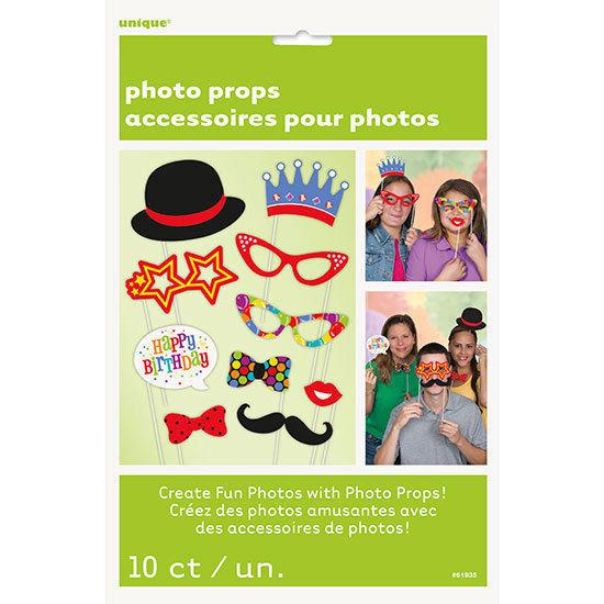 Birthday 10 ct Photo Props Decor Happy Birthday Party