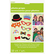 Birthday 10 ct Photo Props Decor Happy Birthday Party - $4.74