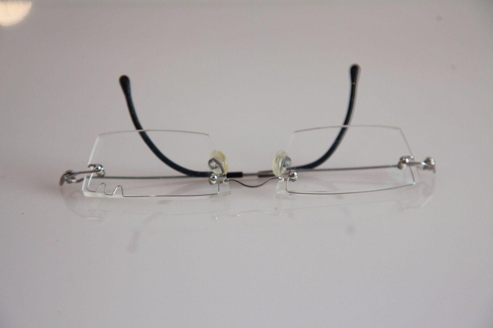 Eyewear, Chrome Half Rimless Wire Frame, RX-Able  Prescription lenses.