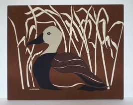 MARUSHKA Framed Textile Prints Art LOT of 3 Canadian Goose Geese Duck 22... - $88.83