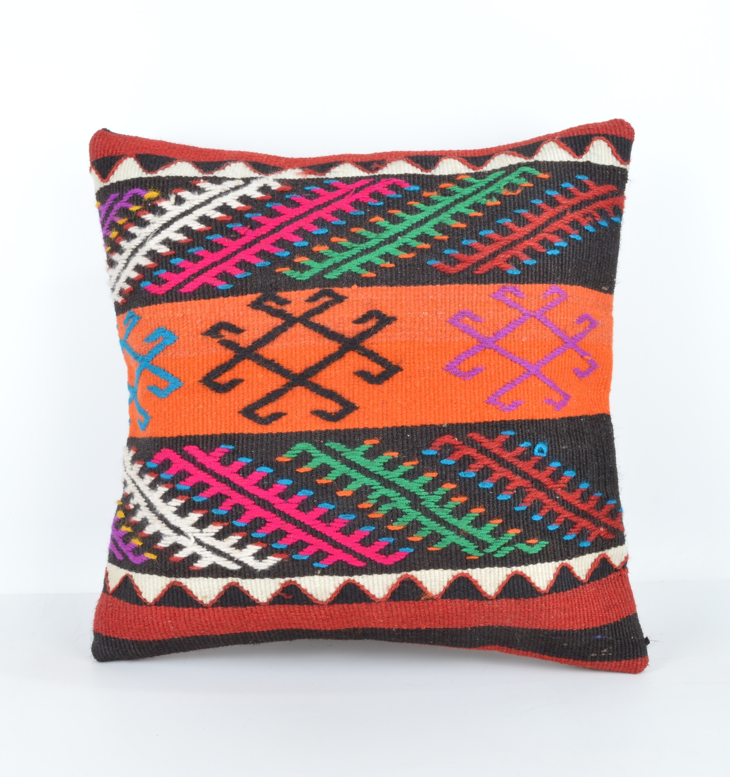 Modern Moose Pillows : Cushion cover,Modern decor,Colorful pillow,Kilim Bolster,Rustic Decor 16x16 inch - Pillows