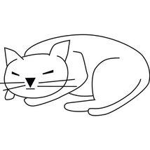 Cat Kitten Wall Decal Sticker - Animal Decoration Mural - 18 in. Black [... - $13.95
