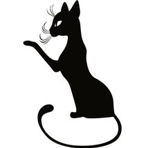 Cat Kitten Wall Decal Sticker - Animal Decoration Mural - 18 in. Black [... - ₹1,004.06 INR