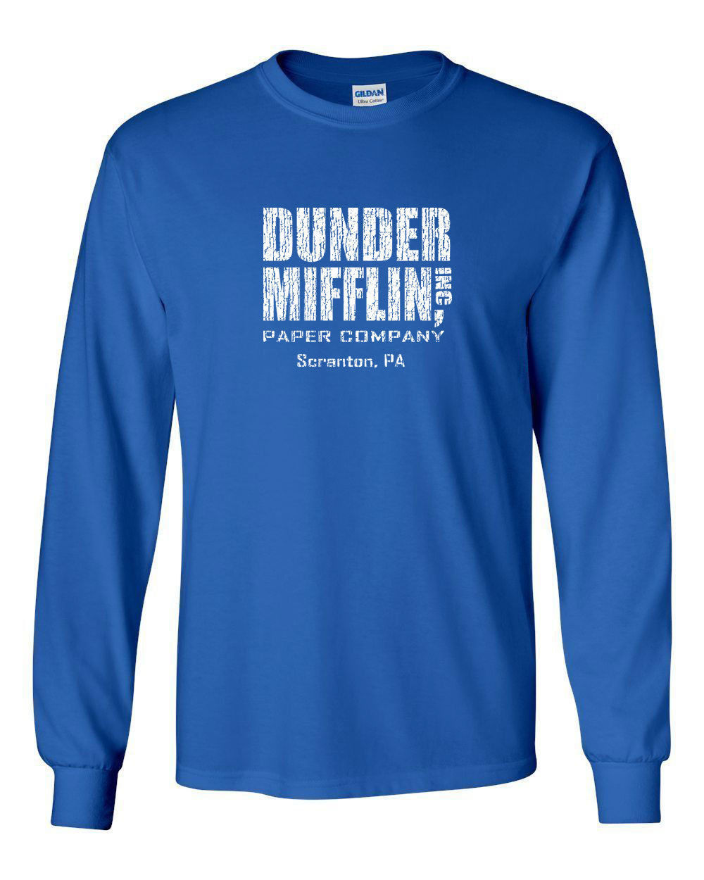 Primary image for 072 Dunder Mifflin Long Sleeve shirt tv show funny office costume employee new