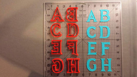 Frozen Inspired Uppercase Alphabet Cookie Cutters - $477,94 MXN+