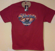 STURGIS BLACKHILLS MOTORCYCLE RALLY 2013 LARGE DOUBLE SIDED T-SHIRT outl... - $9.99