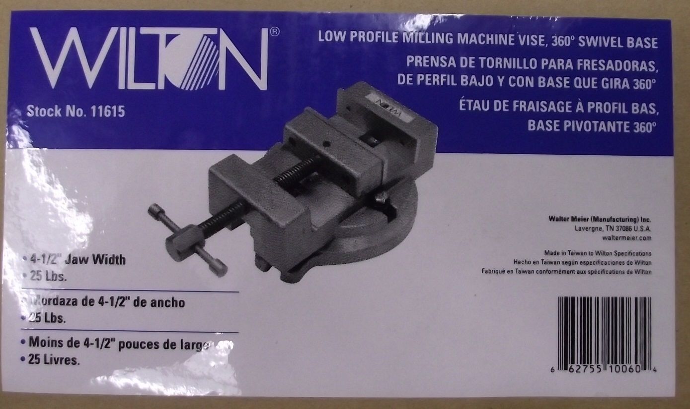Primary image for Wilton 11615 4-1/2 Low Profile Milling Machine Vise with Base WMH NEW