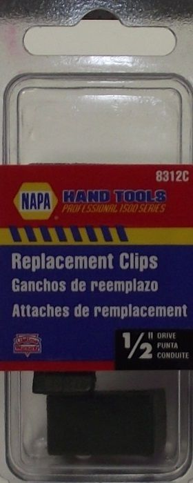 "Primary image for Napa 1/2"" Repalcement Clips For Socket Rail Rack - 3pk 8312C"