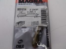 "Magna 5/8'' x ¼'' 2 Flute Straight Router Bit  ¼"" Shank USA #91014 - $5.90"