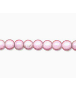6mm Acrylic Round Beads, Wonder Pink, luminous 16in strand, 70 plastic - $2.50
