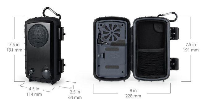 Waterproof Speaker Case for MP3 Player, Cell Phone, iPod, iPhone Black Color New image 4