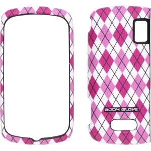 Posh New Body Glove Argyle Snap-On Hard Case for U.S. Cellular LG Genesis – Pink