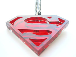 Superman Necklace - Superhero pendant  - $16.95
