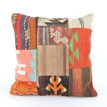 18' patchwork kilim pillow seat pillow chair cushion cover bed cushion b... - $19.00