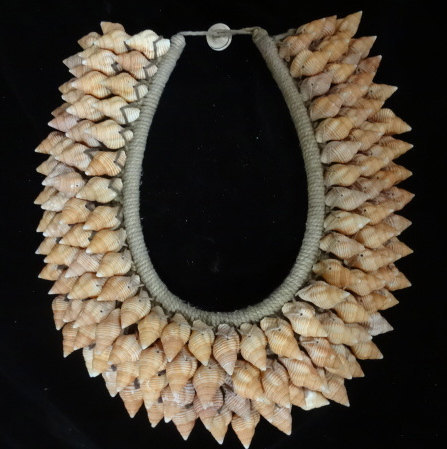 Primary image for Designer ShellNecklace with 4 Band Brown Shell Adornment Hand Woven Home decor
