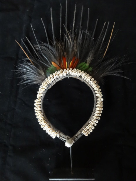 Primary image for Cassowary Quill With Shell Necklace Hand Woven Tribal Papua New Guinea Primitive