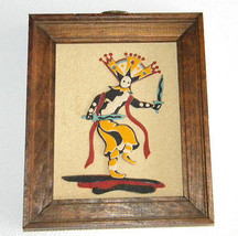 Vintage Sand Art Piece Rainbow Way Ltd., Apache... - $15.99