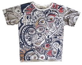 pfc Men T Shirt t shirt white cotton graphic Art dada Rock Pop Picasso M MIRROR - $13.85