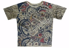 pfc Men T Shirt t shirt beige cotton graphic Art dada Rock Pop Picasso M MIRROR - $13.85