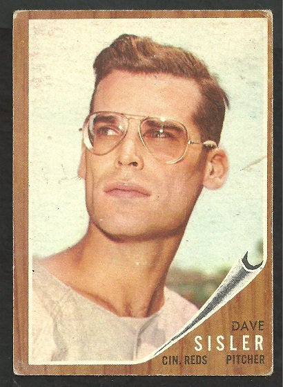 Primary image for Cincinnati Reds Dave Sisler 1962 Topps Baseball Card # 171 g/vg