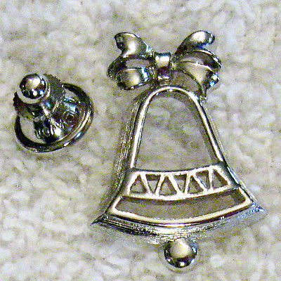 Primary image for Vintage Wedding Bell Lapel PIN Collectible - Tack back Brooch Christmas in July