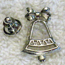 Vintage Wedding Bell Lapel PIN Collectible - Tack back Brooch Christmas ... - $9.84