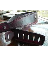 Leather Guitar Strap , Electric Guitar Strap, Electric Guitar, Leather M... - $99.23