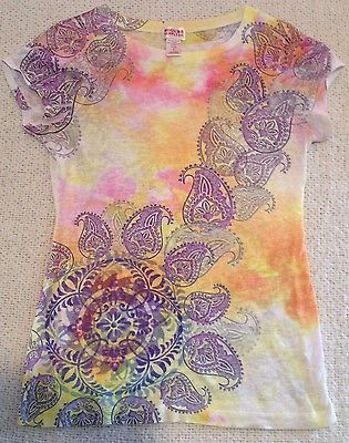 Primary image for Mossimo Supply Co. Tie Die Floral Pattern T-Shirt Women's Small