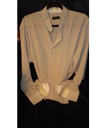 Mens casual neckband shirt, crepon crincle weave , easy fit, really elegant - $29.50