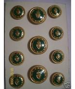 12 pc  Designer Metal Coat Blazer Button Set Sh... - $21.85