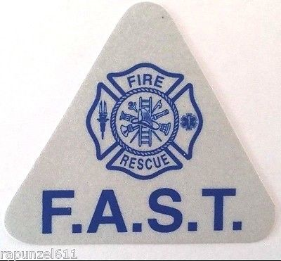 Primary image for F.A.S.T. Reflective Helmet Decals -20 pcs.-Firefighter Assisted Search Team-Blue