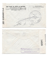 WWII Censored Cover Matanzas Cuba Official Free Mail to US 1943 Cigar Sl... - €8,51 EUR