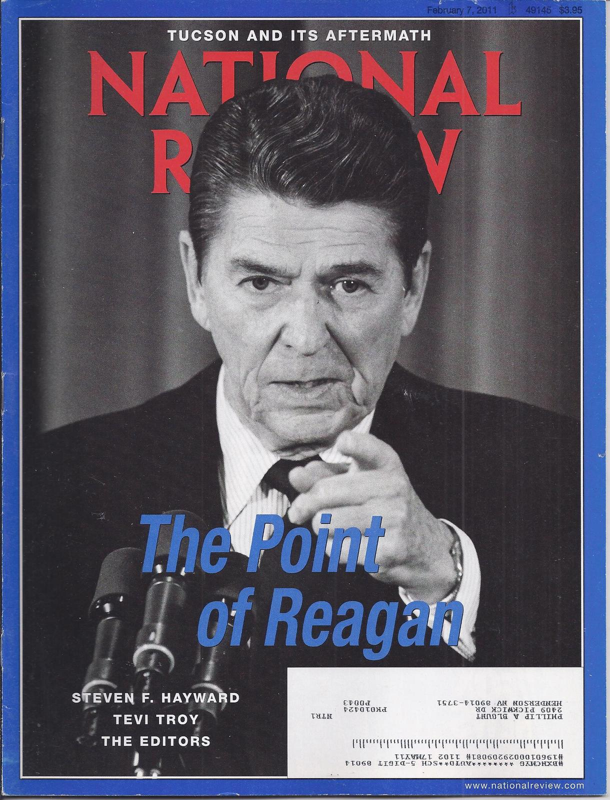 Primary image for NAVAL REVIEW Magazine Feb 2011: The Point of Reagan