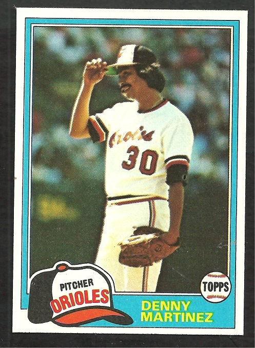 Primary image for Baltimore Orioles Denny Martinez 1981 Topps Baseball Card # 367 nr mt