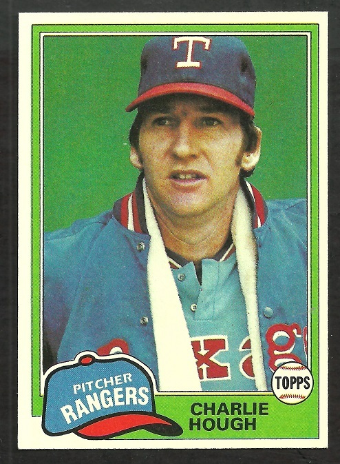 Primary image for Texas Rangers Charlie Hough 1981 Topps Baseball Card # 371 nr mt