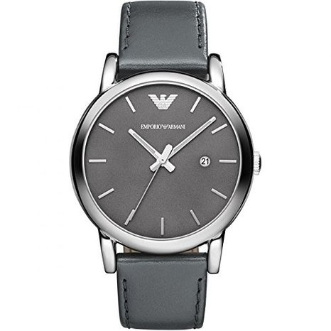 Primary image for EMPORIO ARMANI MEN´S AR1730 CLASSIC GREY STAINLESS STEEL WATCH