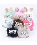 1pcs Key Chain Pom Pom Key Rings Rabbit Fur Ball Pompom Women Bag Charms... - $7.99