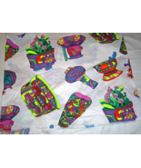 Aztec Pottery Neon Fabric Cotton Quilting, Crafting - $9.99