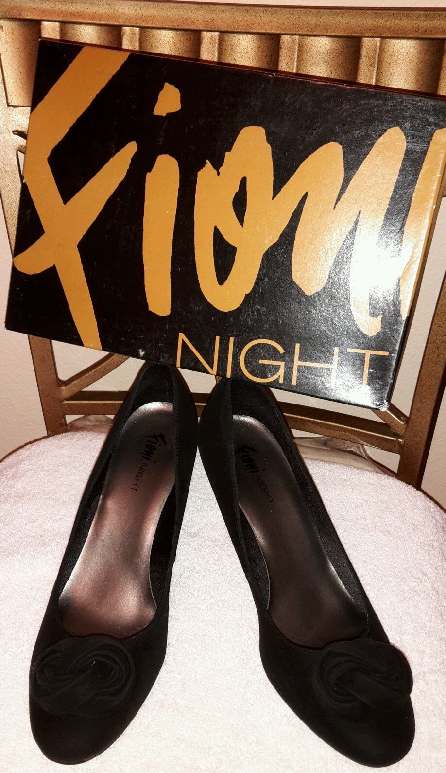 "Primary image for FIONI NIGHT STILLETTOS HEELS BLACK 2"" SOLID Synthetic, WOMEN US Shoe Size: 11MB"