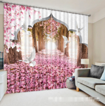 3D Arch Pink 0145Blockout Photo Curtain Printing Curtain Drapes Fabric Window UK - $145.49+